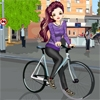 Jeu Bicyclist Girl en plein ecran