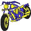 Big blue motorbike coloring