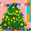 Cartoon Xmas Tree – Coloring Page