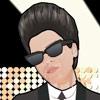 Jeu Celeb Dressup Popstar Bruno en plein ecran