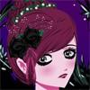 Dark Flower Hairstyle