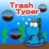 Jeu DinoKids – Trash Typer en plein ecran