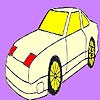 Fast star car coloring