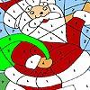 Funny santa coloring
