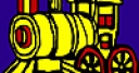 Jeu Long colorful locomotive coloring