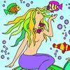 Jeu Mermaids – Rossy Coloring Games en plein ecran