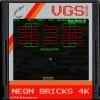 Jeu Neon Bricks 4K en plein ecran