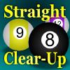 Jeu Straight Clear-Up (Pool/Billiards) en plein ecran
