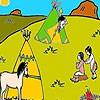 Two little Injun coloring